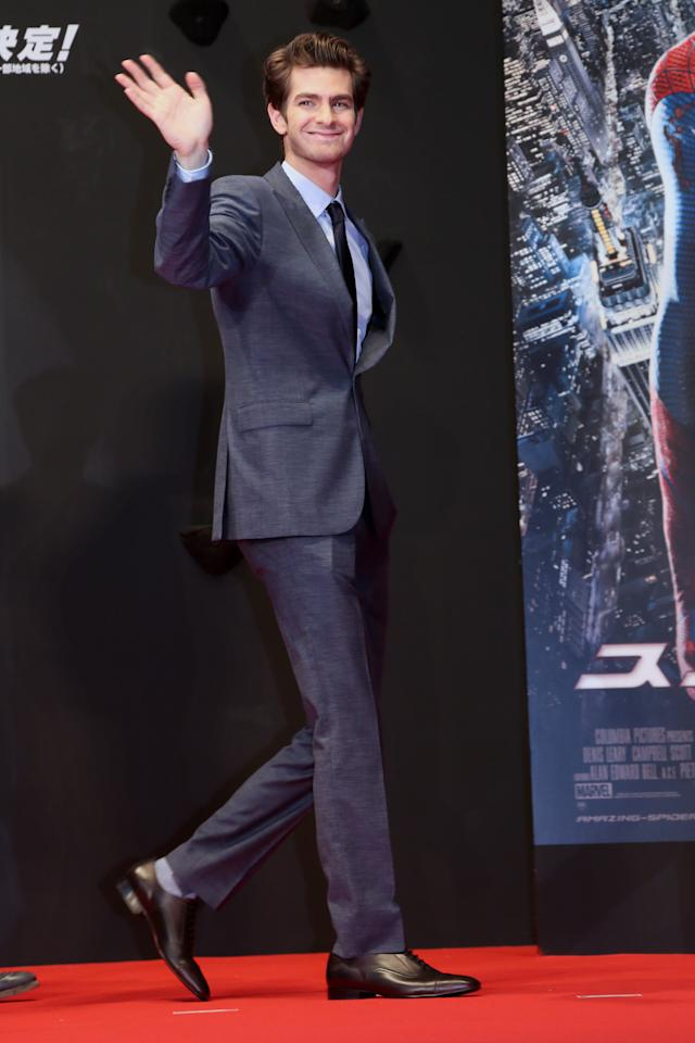 TOKYO, JAPAN - JUNE 13:  Actor Andrew Garfield attends the world Premiere of 'The Amazing Spider-Man' at Roppongi Hills on June 13, 2012 in Tokyo, Japan. The film will open on June 30 in Japan.  (Photo by Ken Ishii/Getty Images)
