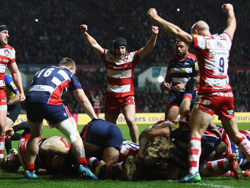 Ludlow crashes over for Gloucester: Getty