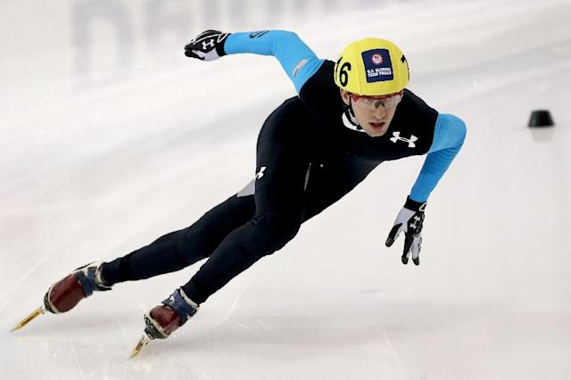 America's Chris Creveling, Sochi 2014 silver medallist who has been barred for failing a drugs test. (AFP Photo/MATTHEW STOCKMAN)