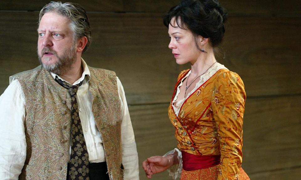Simon Russell Beale and Helen McCrory in Uncle Vanya in 2002.