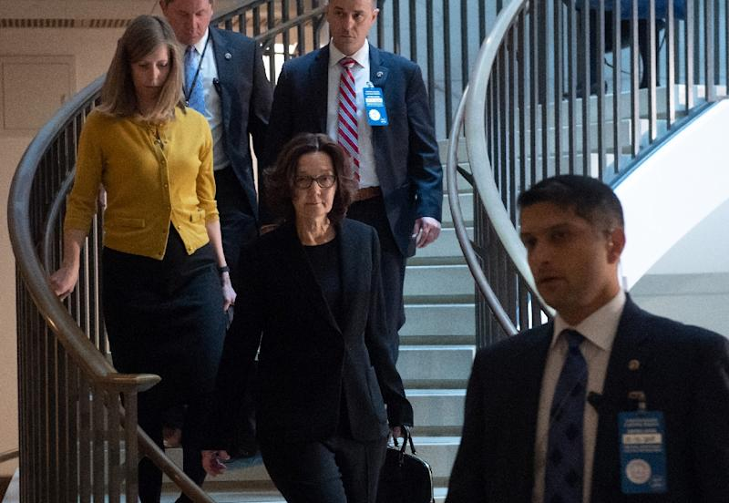 CIA Director Gina Haspel arrives for a briefing with US House leaders about the death of journalist Jamal Khashoggi, on December 12, 2018