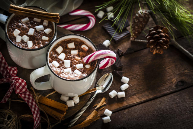 Christmas hot drinks might be delicious, but they're packed with sugar (Getty)
