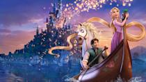 """<p>disneyplus.com</p><p><a href=""""https://go.redirectingat.com?id=74968X1596630&url=https%3A%2F%2Fwww.disneyplus.com%2Fmovies%2Ftangled%2F3V3ALy4SHStq&sref=https%3A%2F%2Fwww.redbookmag.com%2Flife%2Fg34929170%2Fbest-disney-movie1%2F"""" rel=""""nofollow noopener"""" target=""""_blank"""" data-ylk=""""slk:WATCH NOW"""" class=""""link rapid-noclick-resp"""">WATCH NOW</a></p><p>It took Walt Disney Animation Studios 50 movies before it finally brought the Grimms' fairy tale, Rapunzel, to life. While this 2010 version is also about a young girl with magnificently long golden hair held captive in a tower by an evil sorceress, there's a lot of differences from the original 19th century story. For one, this spunkier Rapunzel (voiced by Mandy Moore) is a princess who falls in love with the thief Flynn Rider, instead of a peasant girl who is rescued by a prince. And while Rapunzel's hair has supernatural healing properties in this telling, the most magical part of this movie is the extraordinary animation in the lantern scene.</p>"""