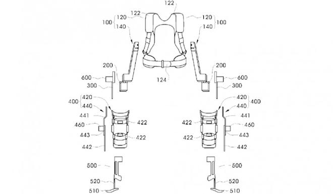 Samsung filed a patent for wearable robot
