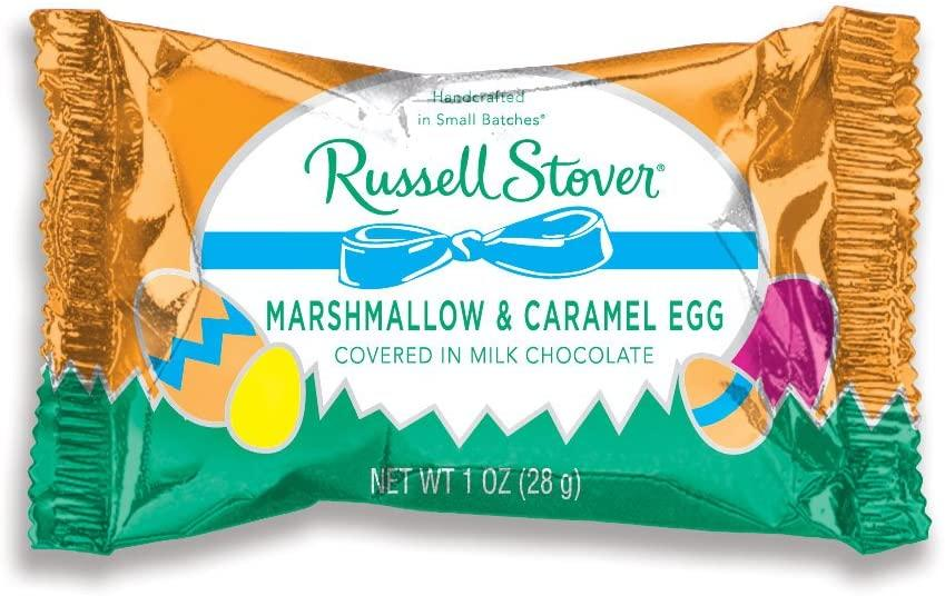 Russell Stover Easter Marshmallow & Caramel Egg Milk Chocolate Box, 36 Pack. Image via Amazon.