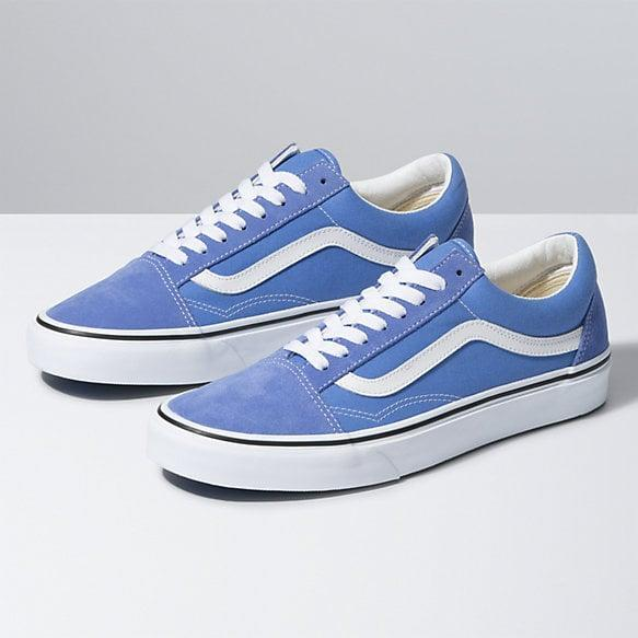 "<p>The blue shade of these <a href=""https://www.popsugar.com/buy/Vans-Old-Skool-Sneakers-584507?p_name=Vans%20Old%20Skool%20Sneakers&retailer=vans.com&pid=584507&price=60&evar1=fab%3Aus&evar9=47571677&evar98=https%3A%2F%2Fwww.popsugar.com%2Ffashion%2Fphoto-gallery%2F47571677%2Fimage%2F47571936%2FVans-Old-Skool-Sneakers&list1=shopping%2Cshoes%2Csneakers%2Csummer%2Csummer%20fashion%2Cfashion%20shopping&prop13=mobile&pdata=1"" rel=""nofollow noopener"" class=""link rapid-noclick-resp"" target=""_blank"" data-ylk=""slk:Vans Old Skool Sneakers"">Vans Old Skool Sneakers</a> ($60) is pretty.</p>"
