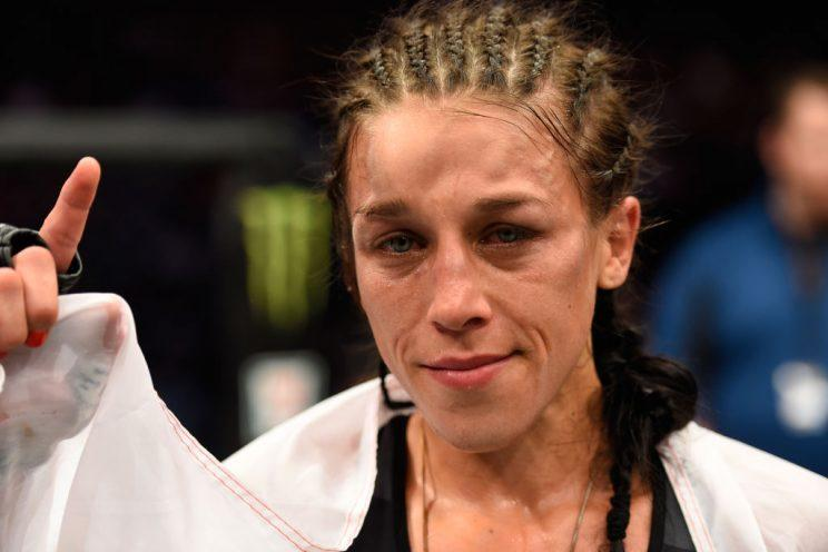Joanna Jedrzejczyk has now defended her UFC strawweight title five times. (Getty)