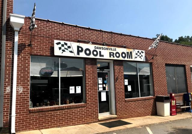 Welcome to the Dawsonville Pool Room. (via Yahoo Sports)