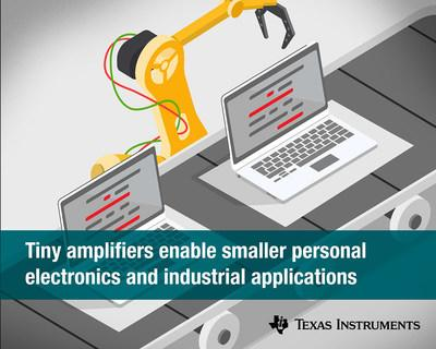 TI's new current-sense amplifier and comparators enable smaller personal electronics, enterprise, industrial and communications applications