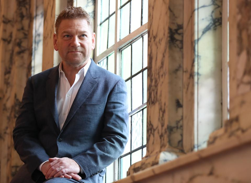 Sir Kenneth Branagh at Belfast City Hall. The Belfast-born star of stage and screen will become a Freeman of the city in an official event at the Ulster Hall. (Photo by Niall Carson/PA Images via Getty Images)