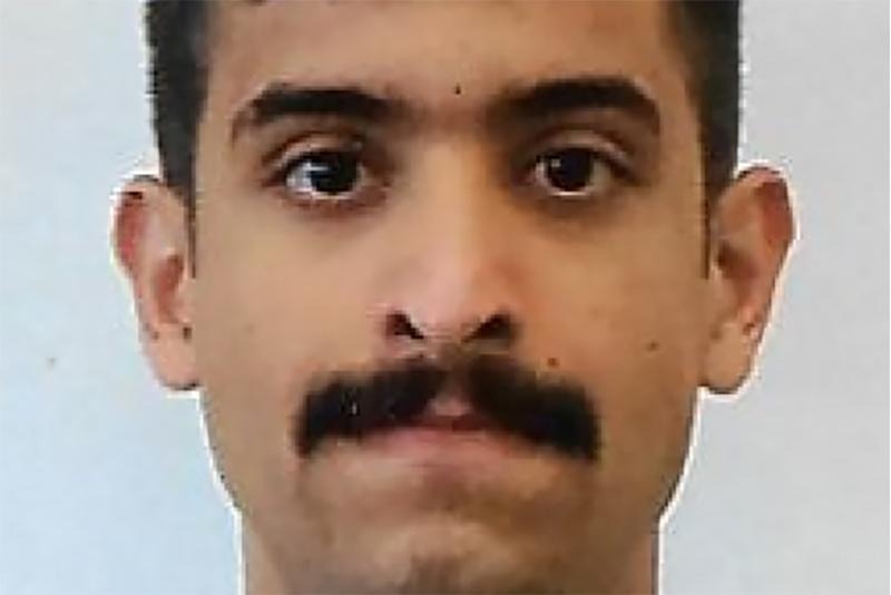 Royal Saudi Air Force 2nd Lieutenant Mohammed Saeed Alshamrani, airman accused of killing three people at a U.S. Navy base in Pensacola, Florida, is seen in an undated military identification card photo released by the Federal Bureau of Investigation December 7, 2019. FBI/Handout via REUTERS. THIS IMAGE HAS BEEN SUPPLIED BY A THIRD PARTY. THIS PICTURE WAS PROCESSED BY REUTERS TO ENHANCE QUALITY. AN UNPROCESSED VERSION HAS BEEN PROVIDED SEPARATELY.