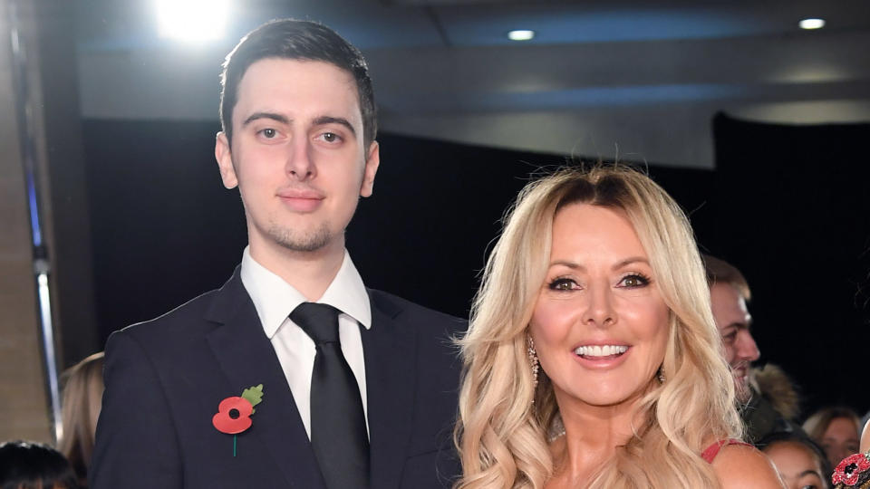 Carol Vorderman said she's proud of her son, Cameron, who has just earned his master's degree. (Karwai Tang/WireImage)