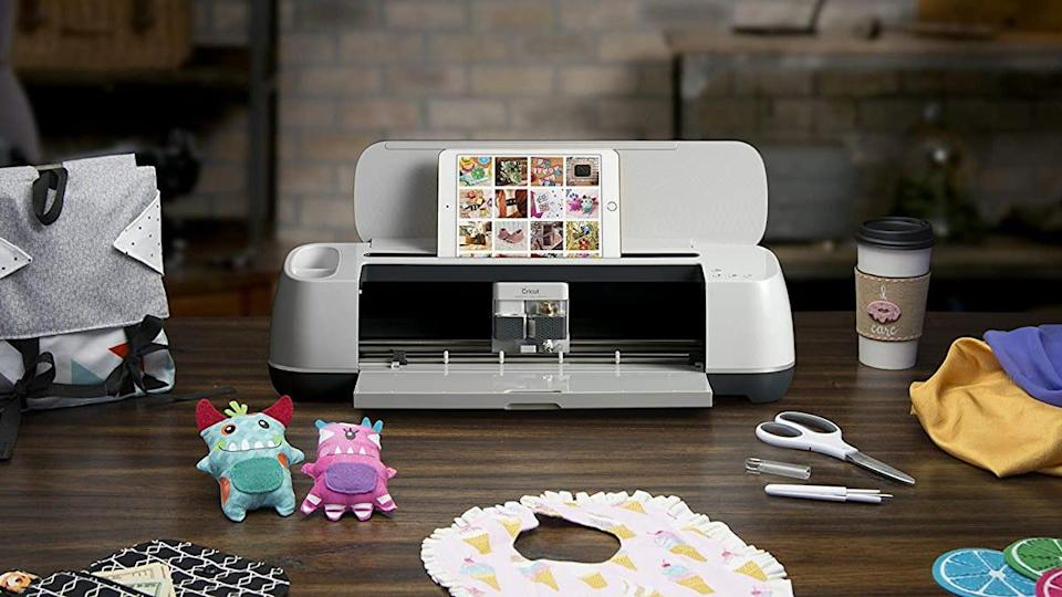 The Cricut Maker is popular amongst Amazon shoppers for its ability to customize fabrics, banners, designs and more.