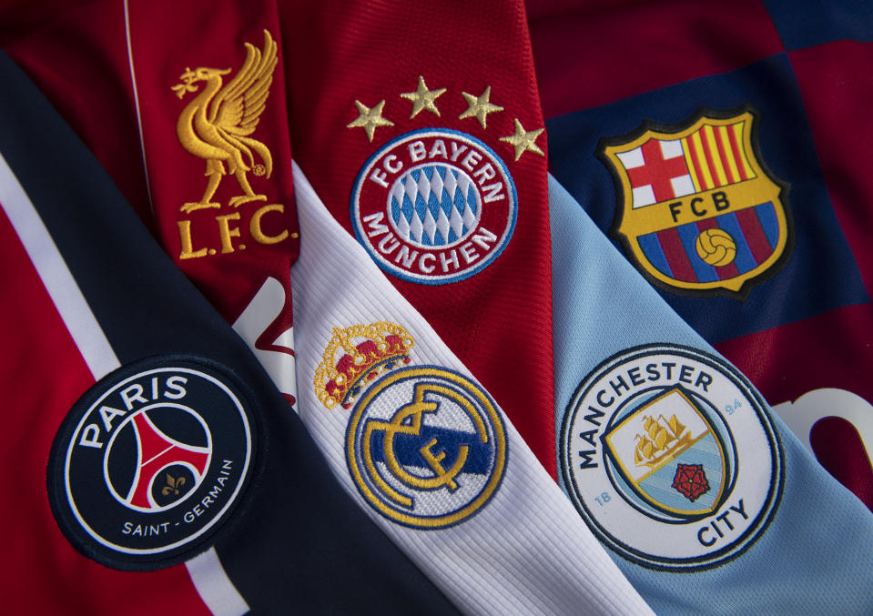 Liverpool, Bayern Munich, Barcelona, PSG, Real Madrid and Manchester City would all be involved in a European super league. (Visionhaus/Getty Images)