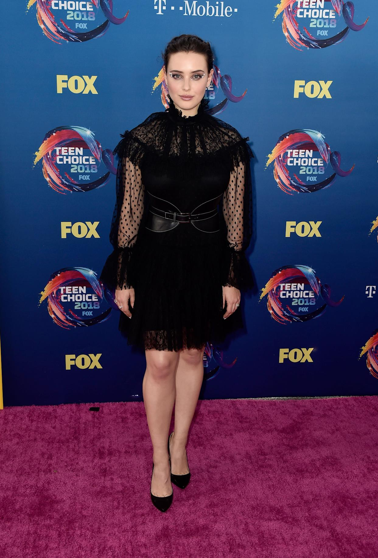 INGLEWOOD, CA - AUGUST 12: Katherine Langford attends FOX's Teen Choice Awards at The Forum on August 12, 2018 in Inglewood, California. (Photo by Frazer Harrison/Getty Images)