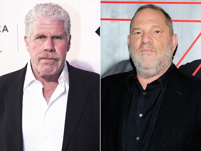 Ron Perlman peed on his hand before shaking Harvey Weinstein's hand