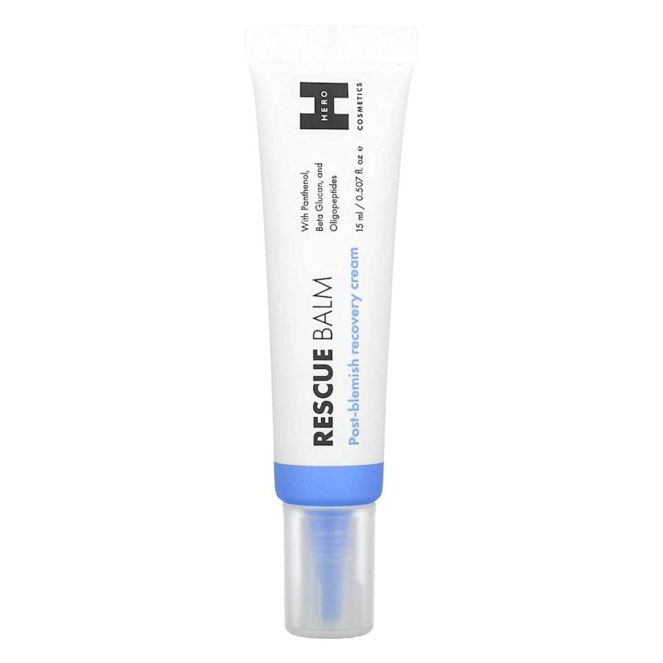 """<h2>Hero Cosmetics<br></h2><br>Get 20% off select products<br><br><strong>Mighty Patch</strong> Rescue Balm - Post-Blemish Recovery Cream, $, available at <a href=""""https://amzn.to/3vPRQx4"""" rel=""""nofollow noopener"""" target=""""_blank"""" data-ylk=""""slk:Amazon"""" class=""""link rapid-noclick-resp"""">Amazon</a>"""
