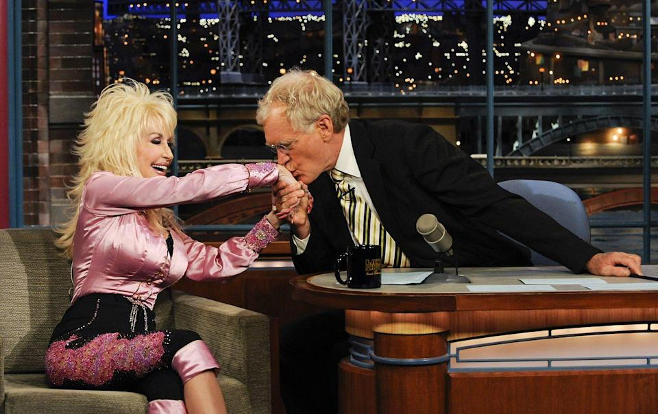 <p>Dolly performed on David Letterman's show 12 times! Here she is with the late-night host in 2010.</p>
