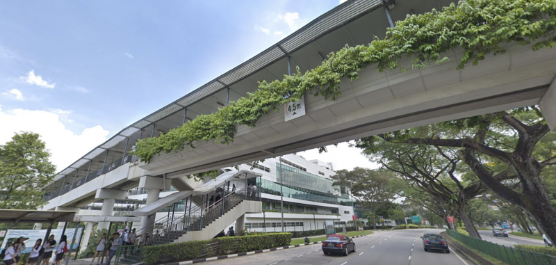An overhead bridge outside ITE College West. (SCREENCAP: Google Streetview)