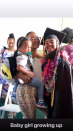 """The 10-year-old daughter of late rapper Nipsey Hussle celebrated her graduation along with her aunt Samantha Smith. """"Baby girl growing up,"""" Smith captioned the photo that also featured Nipsey's 2½-year-old son Kross."""