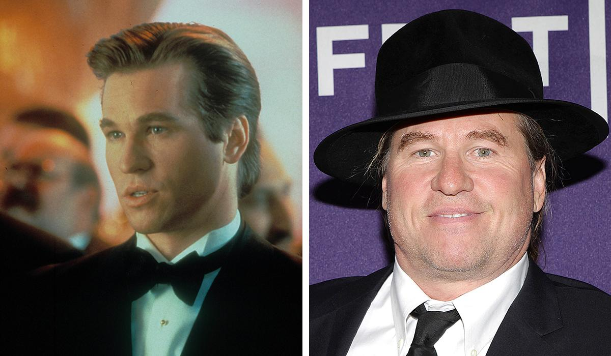 Val Kilmer:There were few actors sexier than Kilmer during the 1990s, with his lustrous quiff and beestung lips playing everything from Batman to the Saint. Now 56, the star still has plenty of charisma, but let's just say he's officially gone from leading man to character actor.
