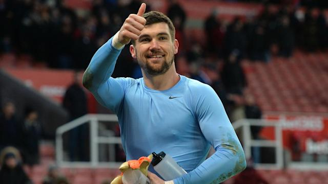 The Seagulls goalkeeper made a superb late save from Stoke City's spot-kick and he has hailed his team-mates