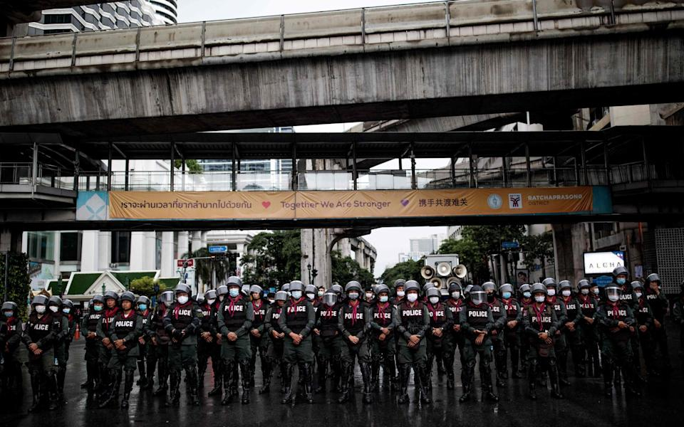 Police stand guard - AFP