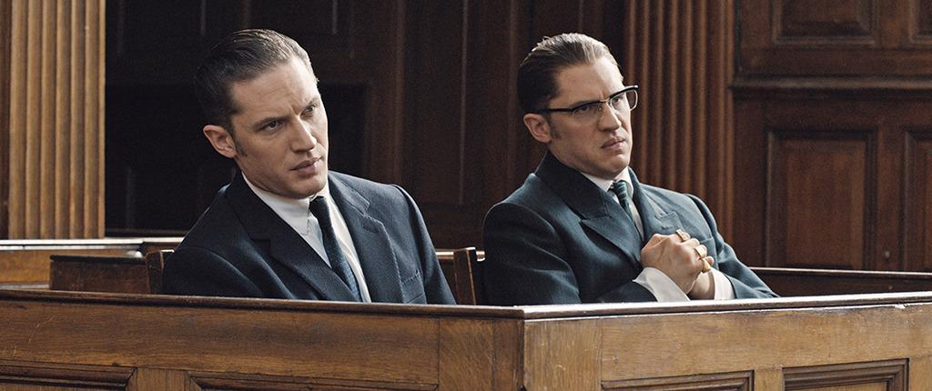 """<p>Much has been made about Tom Hardy's fight scenes in <a href=""""https://www.yahoo.com/movies/film/legend""""><i>Legend</i></a>, in which <a href=""""https://www.yahoo.com/movies/watch-a-double-shot-of-tom-hardy-as-gangster-twins-122426727177.html"""">he essentially bouts with himself</a>. In the film, he plays identical twin brothers, the notorious London gangsters Ronald and Reginald Kray. He filmed opposite a stunt double who really punched Hardy hard!<i>(Photo: Everett Collection)</i></p>"""