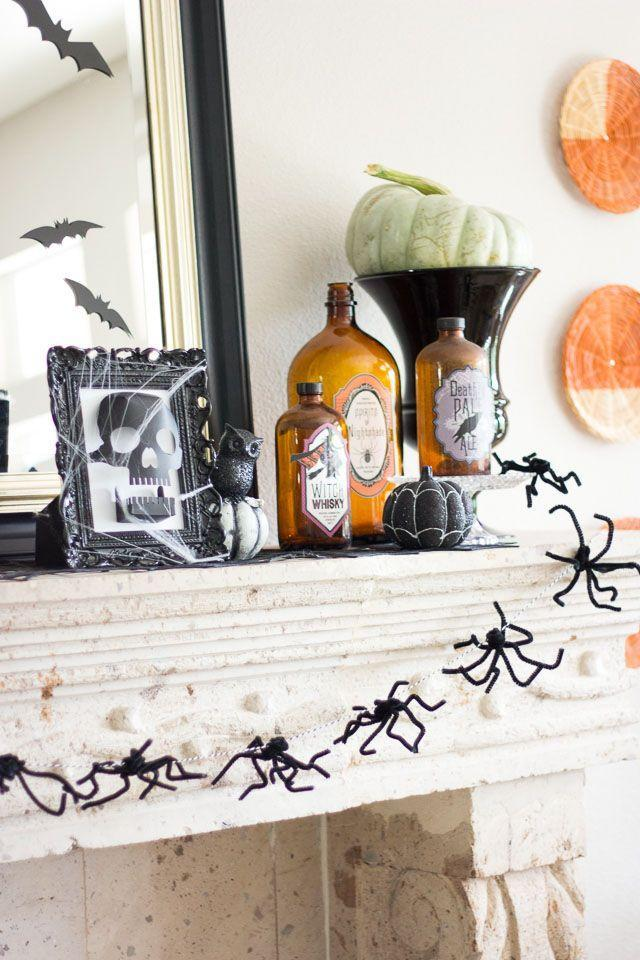 "<p>Frankly, spiders are only welcome around the house when they're in the form of an adorable, fuzzy garland. Get the tutorial at <a href=""http://www.designimprovised.com/2014/09/halloween-spider-garland.html"" rel=""nofollow noopener"" target=""_blank"" data-ylk=""slk:Design Improvised"" class=""link rapid-noclick-resp"">Design Improvised</a>.</p><p><a class=""link rapid-noclick-resp"" href=""https://www.amazon.com/Fun-Express-Halloween-Spiderwebs-Plastic/dp/B001EEYC8W?tag=syn-yahoo-20&ascsubtag=%5Bartid%7C10057.g.2554%5Bsrc%7Cyahoo-us"" rel=""nofollow noopener"" target=""_blank"" data-ylk=""slk:BUY NOW"">BUY NOW</a> <strong><em>Fake Spiderweb, $6</em></strong></p>"