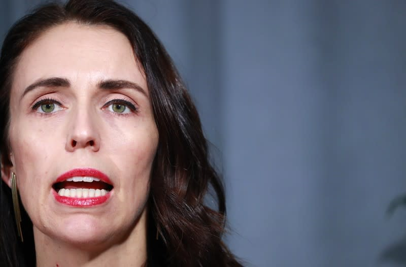 New Zealand's Prime Minister Jacinda Ardern holds a news conference on the sidelines during the 2019 United Nations Climate Action Summit at U.N. headquarters in New York City, New York, U.S.