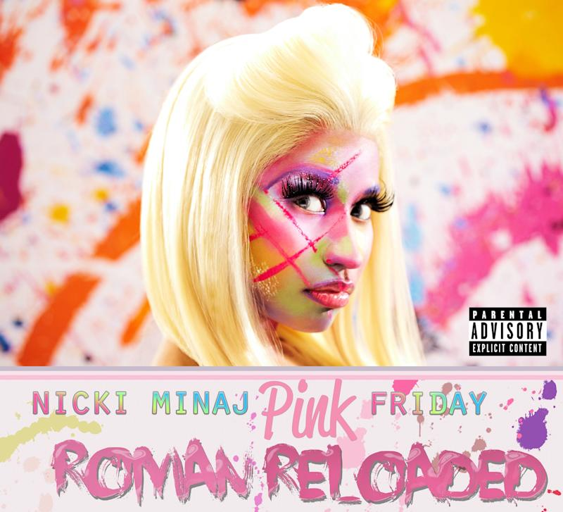 """In this CD cover image released by Cash Money/Universal Republic, the latest release by Nicki Minaj, """"Pink Friday: Roman Reloaded,"""" is shown. (AP Photo/Cash Money/Universal Republic)"""