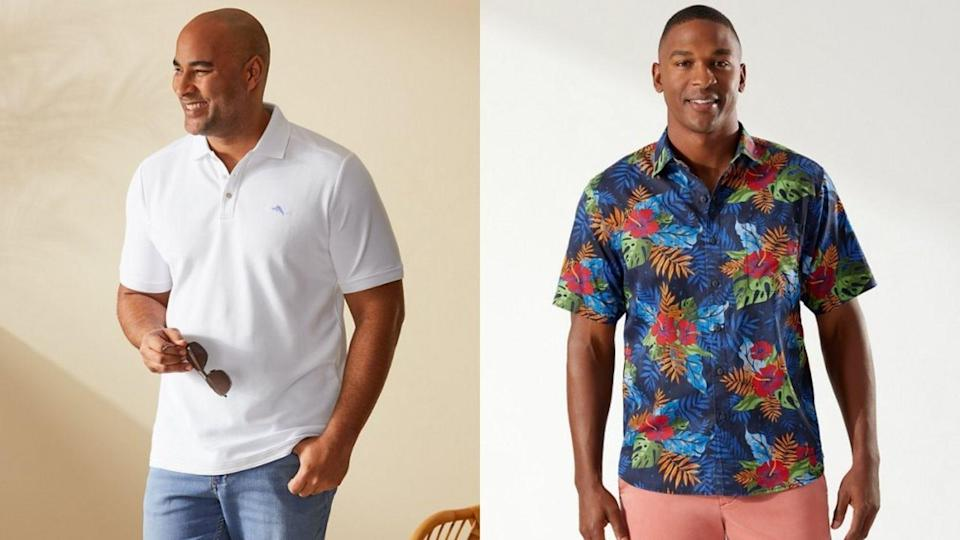 Tommy Bahama has casual shirts and stylish basics for the big and tall man.