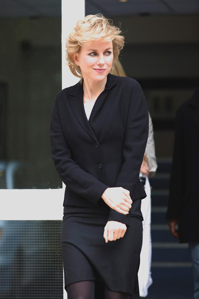 Naomi Watts playing Princess Diana in the new film about her life 'Caught in Flight'.