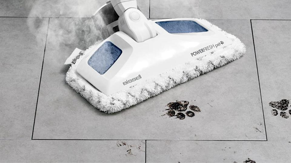 The Bissell 19404 PowerFresh Pet Steam Mop is on sale for Cyber Monday, $87 (originally $125).
