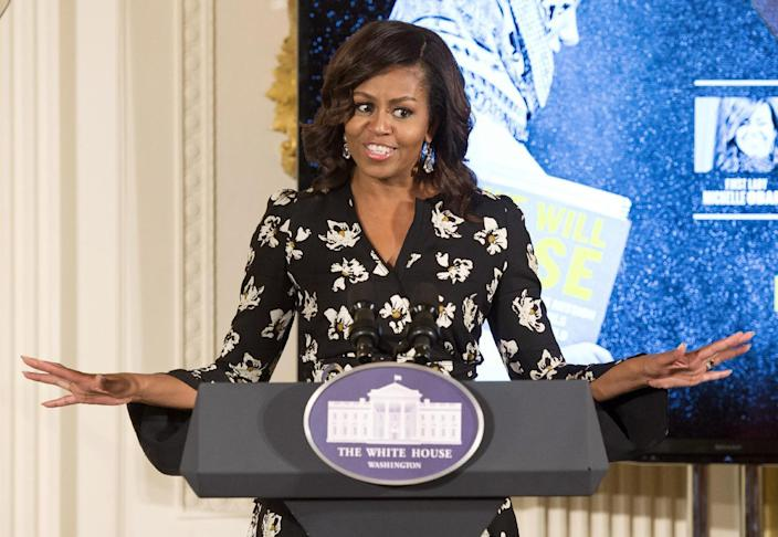 First lady Michelle Obama speaks while hosting a special screening with the U.S. Department of State's Office of Global Women's Issues at the White House. (Photo: Molly Riley/AP)