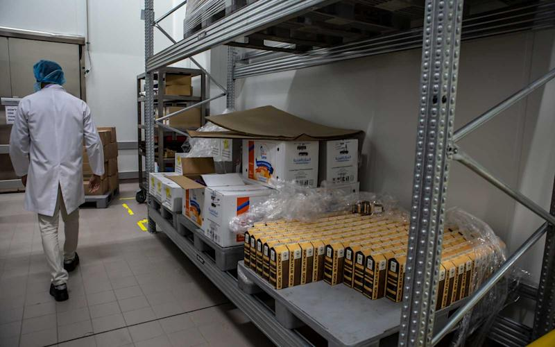 Items like dairy products are stored into the facility's chillers. | Talia Avakian