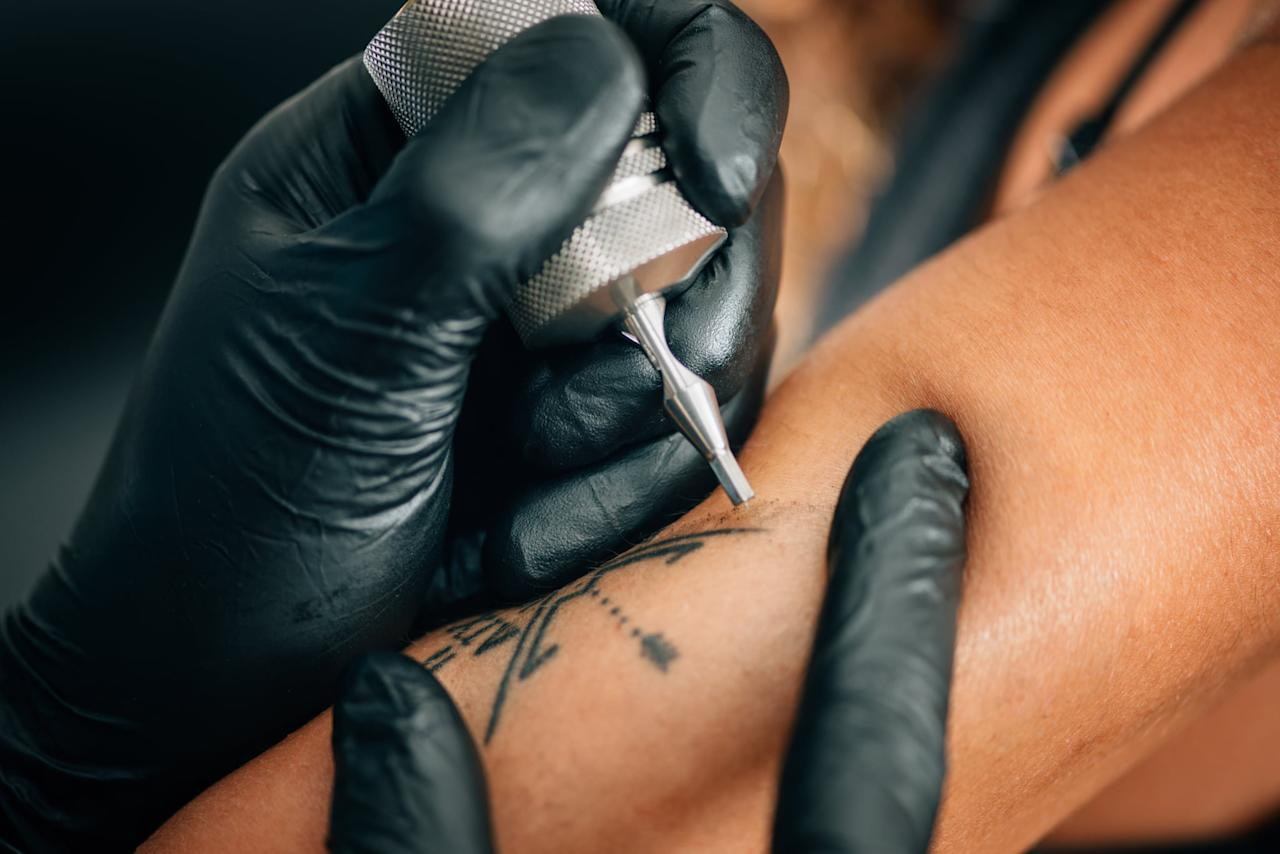 "<h2>What Should I Do to Make Sure My Tattoo Doesn't Get Infected?</h2> <p>Whether or not your tattoo ends up getting infected is all dependent on your aftercare practices, which is dependent on making sure the area stays clean. ""Keeping the tattooed area clean is the most crucial part of preventing an infection,"" Dagger said. ""Don't apply ointment on the tattoo with dirty hands, and make sure your hands are washed thoroughly before touching the tattoo.""</p> <p>Outside of cleaning your tattoo, you should also avoid taking baths, going to the pool, or anything else that involves submerging your body in water so it can heal properly.</p> <h2>What Happens If an Infected Tattoo Isn't Treated Properly?</h2> <p>Not that we actually needed to tell you this, but if you think your tattoo is infected, you should absolutely take steps toward treating it. ""If an infection is not treated properly, your tattoo will not heal, can fall out completely, and/or leave scarring,"" Dagger said.</p>"