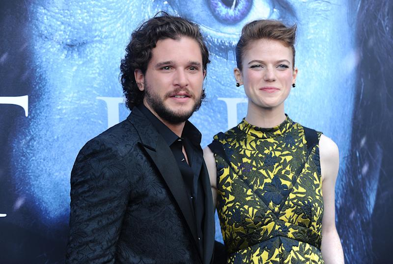 "The couple at the ""GoT"" season seven premiere.  (Jason LaVeris via Getty Images)"