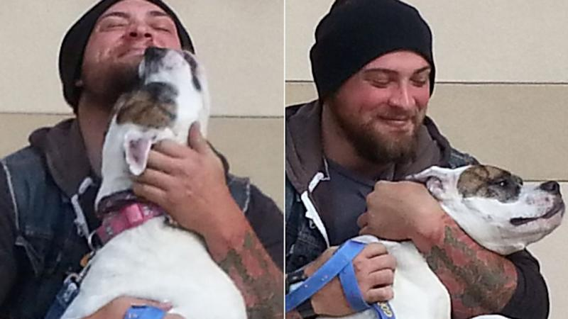 Afghanistan Veteran Reunited With Bulldog After She Was Given Away