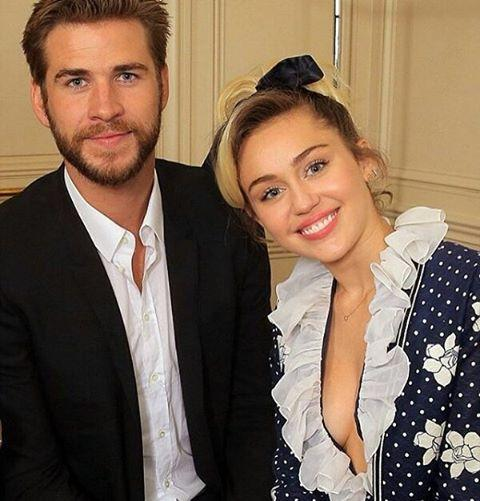 Liam Hemsworth y Miley Cyrus. / yahoo.com