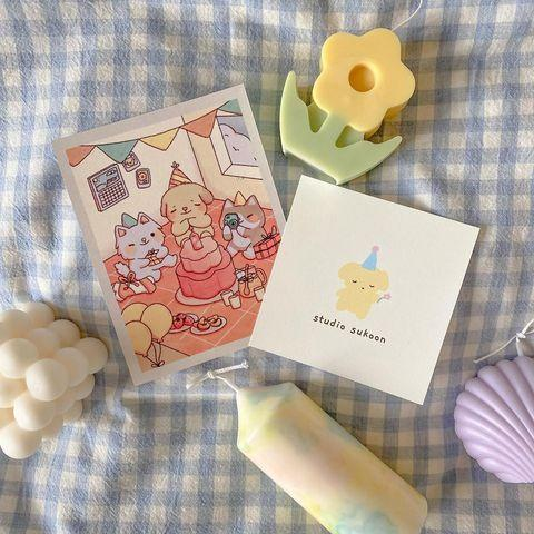 """<p>Founder Jessica Tsang created her brand in 2020 with a desire to share colorful and cute candles that are meant to bring moments of happiness into your space. Tsang not only uplifts other small businesses, but she also donates 15 percent of her profits to local animal rescues and uses upcycled packaging to send off her whimsical creations.</p> <p><strong>Buy it!</strong> Prices vary per item; <a href=""""https://www.instagram.com/studiosukoon/"""" rel=""""nofollow noopener"""" target=""""_blank"""" data-ylk=""""slk:@studiosukoon"""" class=""""link rapid-noclick-resp"""">@studiosukoon</a></p>"""