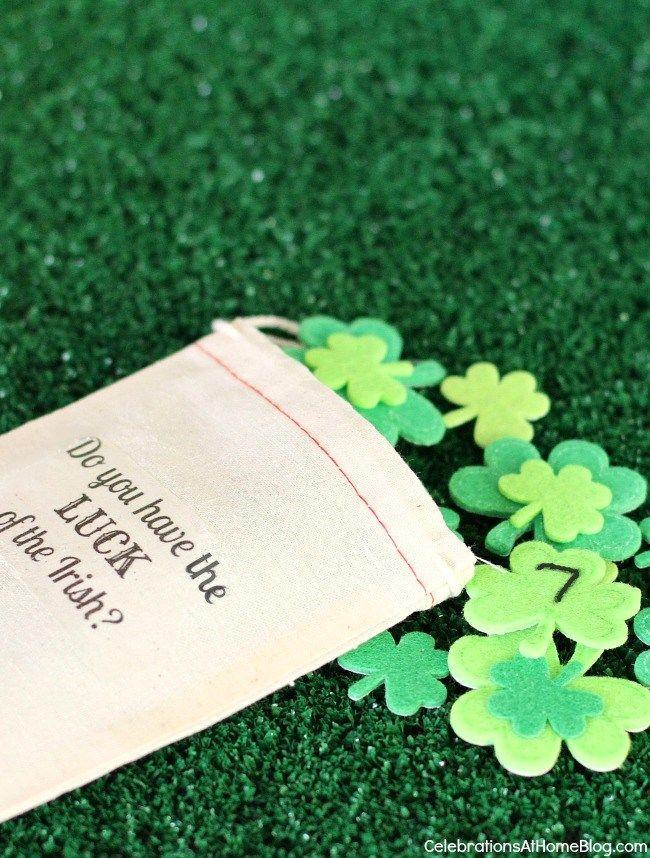 """<p>Everyone will have a blast trying their luck of the draw.</p><p><strong>Get the tutorial at <a href=""""https://celebrationsathomeblog.com/st-patricks-day-lucky-number-game/"""" rel=""""nofollow noopener"""" target=""""_blank"""" data-ylk=""""slk:Celebrations at Home"""" class=""""link rapid-noclick-resp"""">Celebrations at Home</a>.</strong><br></p><p><strong><a class=""""link rapid-noclick-resp"""" href=""""https://www.amazon.com/Shamrock-Stickers-Patricks-Classroom-Decorations/dp/B07MKKHGTF?tag=syn-yahoo-20&ascsubtag=%5Bartid%7C10050.g.26234489%5Bsrc%7Cyahoo-us"""" rel=""""nofollow noopener"""" target=""""_blank"""" data-ylk=""""slk:SHOP SHAMROCK STICKERS"""">SHOP SHAMROCK STICKERS</a><br></strong></p>"""