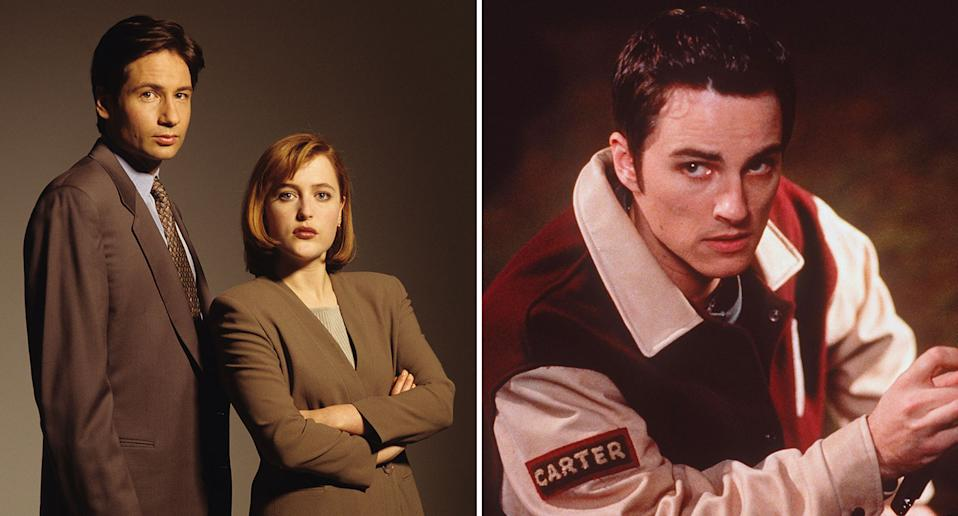 A composite image showing stills from (l) The X-Files and (r) Final Destination. (Getty Image)