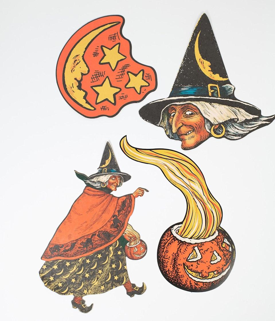 <p>Adorn your haunted home in the <span>Vintage Halloween Illustration Paper Cutouts Set</span> ($14).</p>