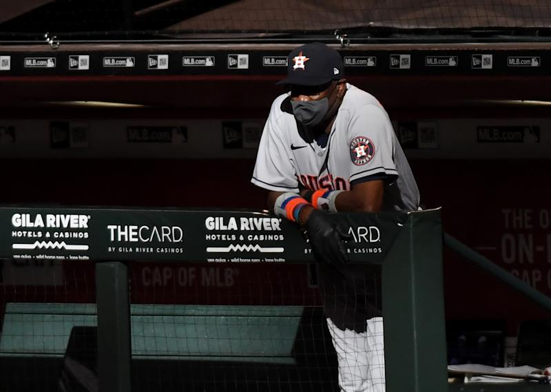 Dusty Baker's Astros are one of MLB's early disappointments. (Photo by Norm Hall/Getty Images)