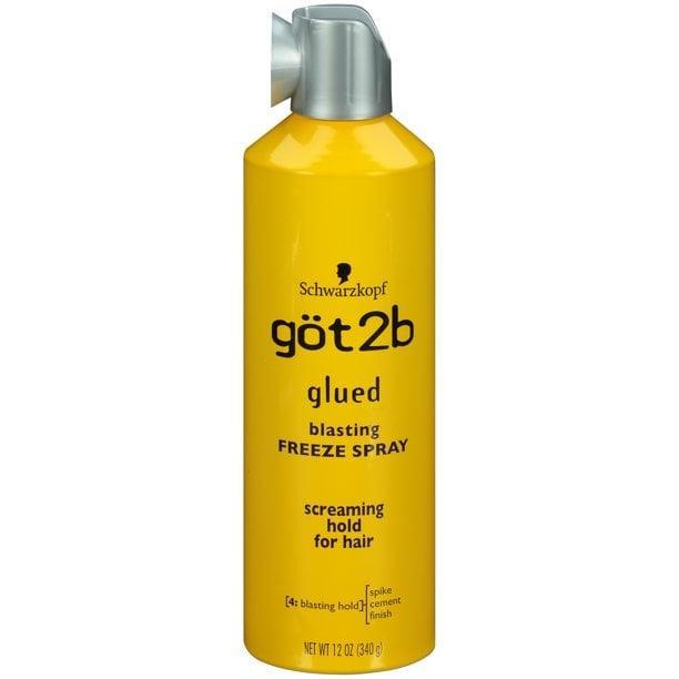 """<p>""""My favorite drugstore product has to be the <span>Got2b Glued Blasting Freeze Hairspray</span> ($5). It is my ultimate go-to product and the only spray I use on my brides. With years in the business and trying multiple brands and hairsprays, Got2B is the one that I find holds and sets the hair best for longer periods of time. It also works on all different hair types, which is a plus. This is the number-one hairspray to hold the hair in place."""" - <a href=""""https://www.instagram.com/senadakxo/?hl=en"""" class=""""link rapid-noclick-resp"""" rel=""""nofollow noopener"""" target=""""_blank"""" data-ylk=""""slk:Senada Ceka"""">Senada Ceka</a>, professional hairstylist</p>"""