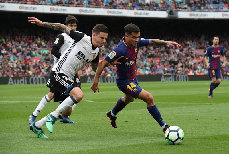 Coutinho & Paulinho start against Valencia — Barcelona team news