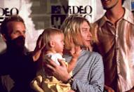 <p>The MTV VMAs in 1993 was the first time Kurt Cobain brought his daughter and wife to a major awards show.</p>