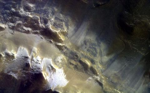 <span>Surface of the Korolev ice-filled crater located in the northern hemisphere of Mars</span> <span>Credit: PA </span>