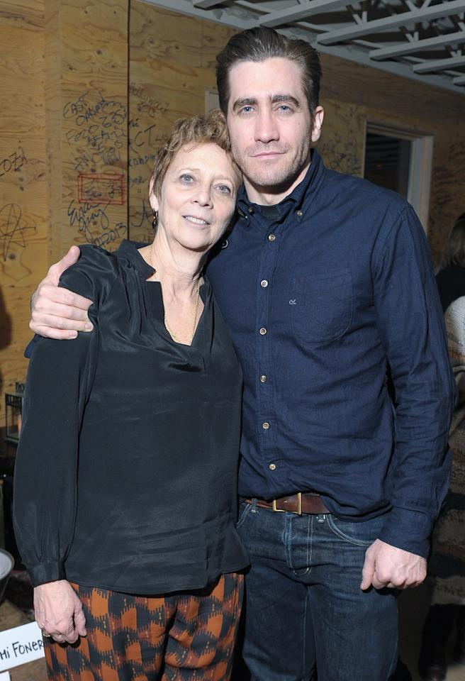 "PARK CITY, UT - JANUARY 22:  Writer/Director Naomi Foner and son, actor Jake Gyllenhaal attend the after party for ""Very Good Girls"" hosted by The Mint Agency and The Branding at Nur Khan Presents on January 22, 2013 in Park City, Utah.  (Photo by Michael Loccisano/Getty Images for The Branding Bee)"